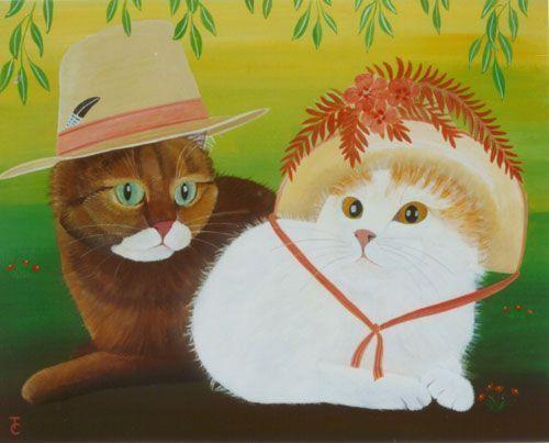 Les chats magnifiques de Claudine TITECA